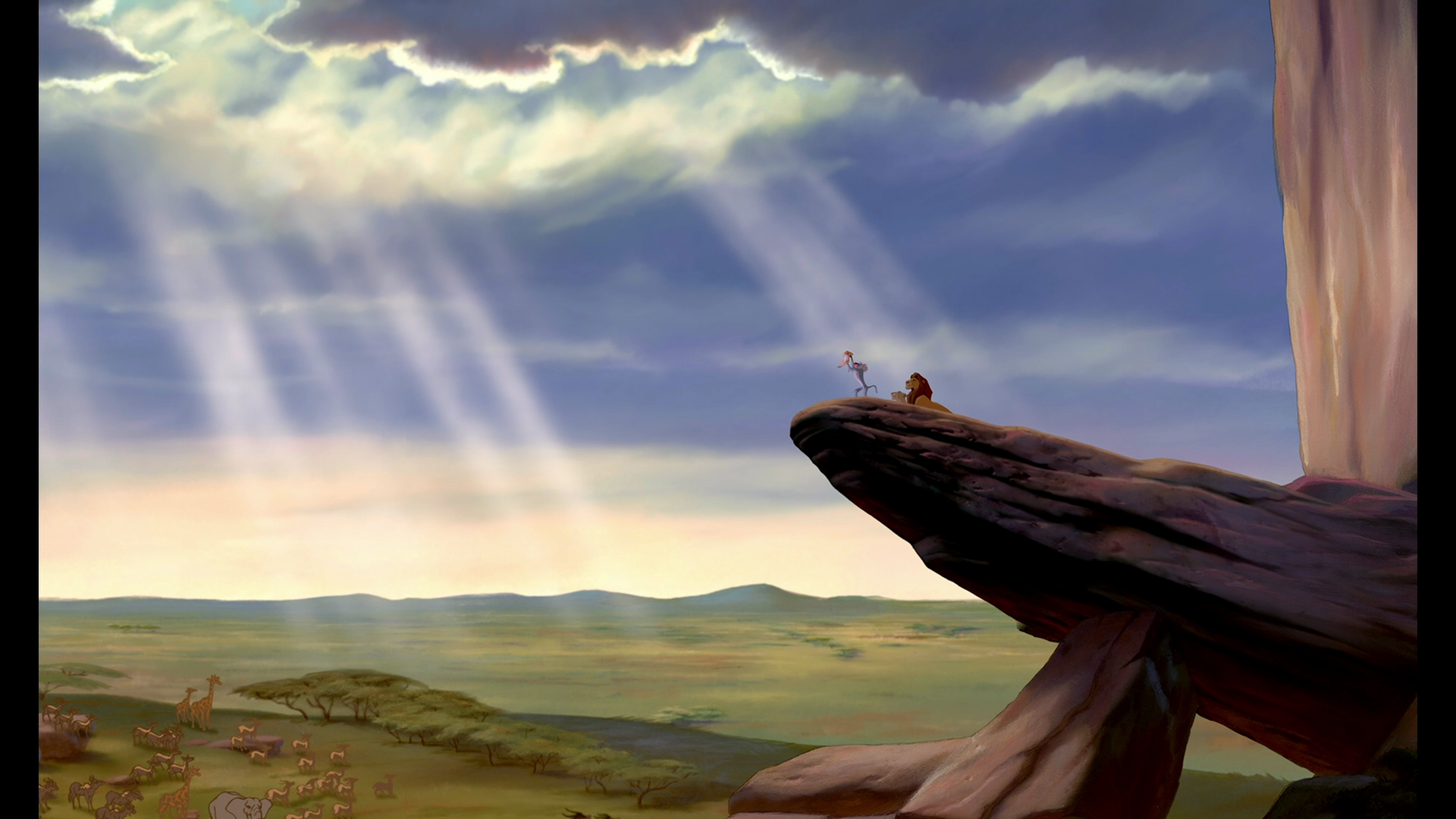 Lion king pride rock scene - photo#24