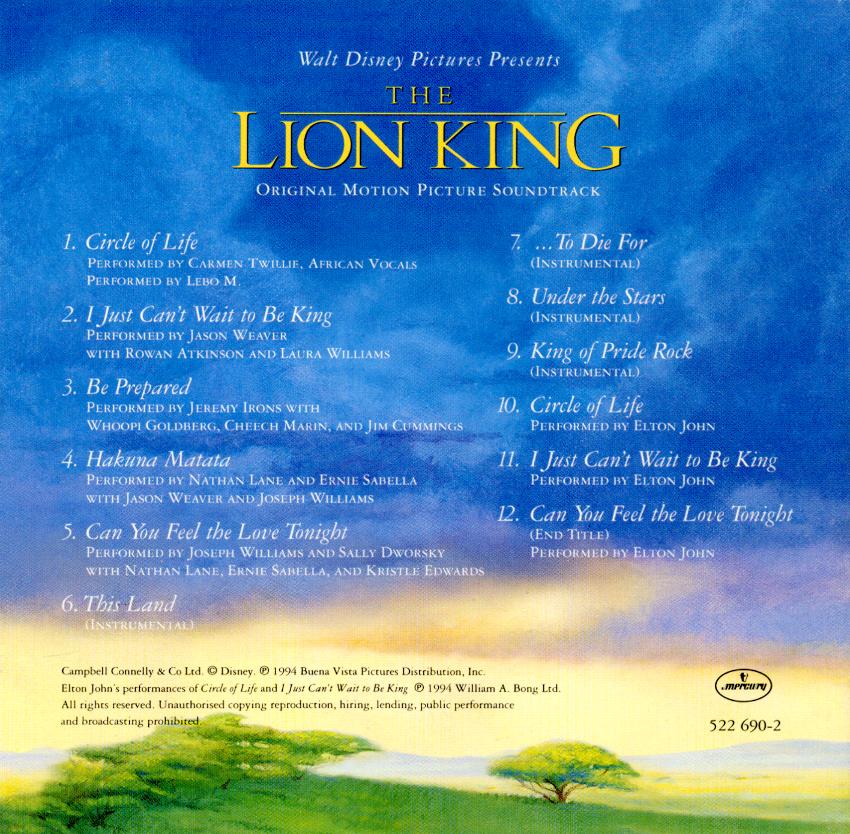 The lion king soundtrack circle of life lyrics